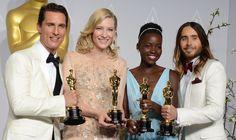 IlPost - Matthew McConaughey (Miglior attore protagonista per Dallas Buyers Club), Cate Blanchett (Miglior attrice protagonista per Blue Jasmine), Lupita Nyong'o (Miglior attrice non protagonista per 12 anni schiavo), e Jared Leto (Miglior attore non protagonista per Dallas Buyers Club).