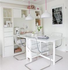 IKEA Dining Hack Smart for small apartments. Should consider some transparent chairs to make the room look more spacious. Ikea Norden Table, Norden Gateleg Table, Ikea Dining, Ikea Table, Dining Chairs, Dining Area, Dining Room, Dining Table, Condo Living