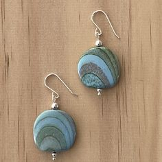 Recycled Bead Sterling Silver Earrings