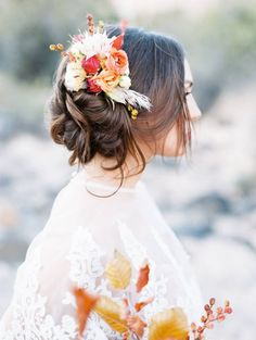 Magnolia Rouge feature | AS EVER PHOTOGRAPHY | Bridal cape | BHLDN Blush Dress | Potted Pansy Florals | Desert Wedding