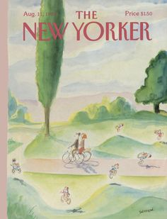 """The New Yorker - Monday, August 11, 1986 - Issue # 3208 - Vol. 62 - N° 25 - Cover by : """"Sempé"""" - Jean-Jacques Sempé"""