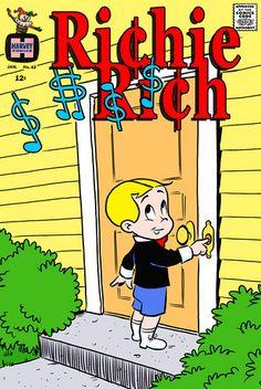 Richie Rich, The Poor Little Rich Boy comics Old Comic Books, Best Comic Books, Vintage Comic Books, Vintage Cartoon, Vintage Comics, Comic Book Covers, Vintage Posters, Jughead Comics, Children's Comics
