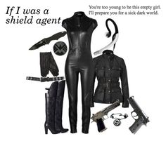 If I was a Shield Agent by boleyn-of-highgarden on Polyvore featuring Belstaff, Jitrois, 3.1 Phillip Lim, SELECTED, Miss Selfridge, Jabra, Marvel Comics, marvel, heroes and SHIELD