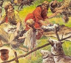 Hier zie je hou boeren leven. Hier zie je ook dat de vrouwen werken. Ook zie je hier schapen. Dit hoort bij economie.