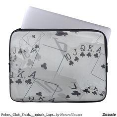 Poker,_Club_Flush,__13inch_Laptop_Sleeve Laptop Sleeve