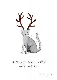 tis true what they say about cats. Marc Johns