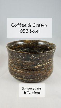 Turned wood bowl