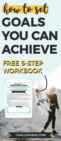 Hey boo, are you ready to start achieving your goals? Here are the six simple secrets to setting achievable goals. Plus, get your FREE Printable Achievable Goals Workbook.