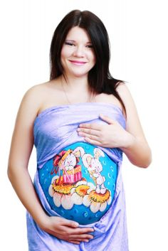 Cute belly painting
