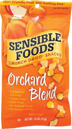 Sensible Foods Crunch Dried® Snacks Orchard Blend