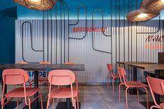 Burrito Loco, diseño interior de Formafatal./
