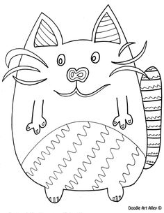 Free Animal Coloring Pages From Doodle Art Alley