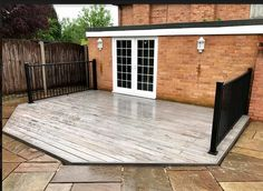 Another satisfied customer 🙌 Here we have a beautiful before and after of a back garden deck using our stunning EasyClean Legacy Ashwood Capped Composite Decking 👌 With an added touch of class using one of our Composite Impression Rails - gorgeous 😍 Our Legacy, Composite Decking, Back Gardens, Boards, Touch, Outdoor Decor, Beautiful, Home Decor, Planks