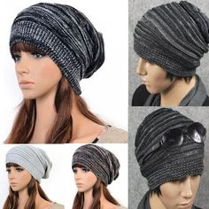 Hot Unisex Womens Mens Knit Baggy Beanie Beret Winter Warm Oversized Ski Cap Hat #NewFashionChic #Beanie