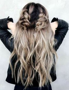 Easy Hairstyles For Long Hair, Straight Hairstyles, Braided Hairstyles, Hairstyle Ideas, Pigtail Hairstyles, Makeup Hairstyle, Pigtail Braids, Cornrows, Beautiful Braids