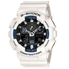 #9: G-Shock GA-100B LTD Edition White GA-100B-7 Watch.