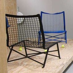 Tie-break is an All-Weather Chair Made from Tennis Nets #patio #outdoorfurniture trendhunter.com