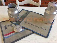 manteles individuales, originales de tela de petate en mambonamambo.com