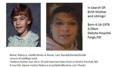 ISO Mother and Siblings: Female, born 4/16/1978 North Dakota | Adoptee Photo | A Place For Adoption Reunions & Information