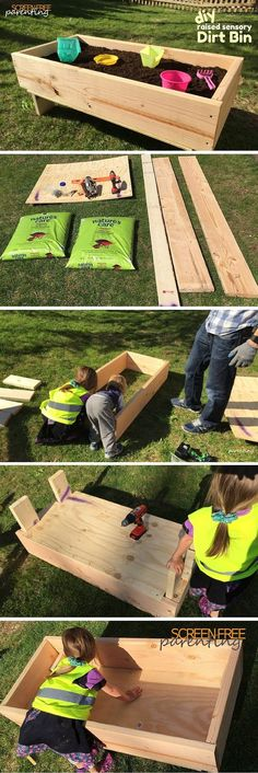 Let Your Kids Get Dirty with a DIY Dirt Box: How to Build a Simple Raised Garden Bed - http://screenfreeparenting.com