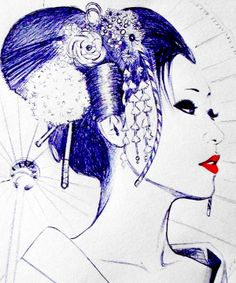 Geisha by LadySpacedementia.deviantart.com on @deviantART great for a tattoo.