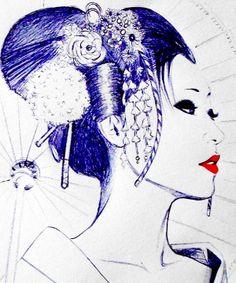 Geisha by LadySpacedementia.deviantart.com on @deviantART great for a tattoo.