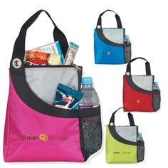 Make your logo part of #lunchtime with the Loop Hole Logo Lunch Cooler Tote Bag! Customers will appreciate all the extra compartments, and your #logo stands out on one of four bold colors. #epromos