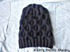 Slouchy Bee Hive Beanie  pattern on Craftsy.com