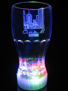 LED Fountain Cola Glass