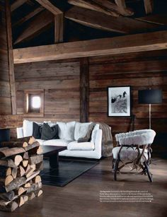 10 Chalet Chic Living Room Ideas For Ultimate Luxury And Comfortable Appeal - Decoholic Chalet Design, House Design, Design Hotel, Chalet Chic, Cabin Chic, Chic Living Room, Home And Living, Chalet Interior, Interior Design