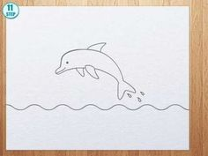 How to draw a Dolphin step by step - YouTube