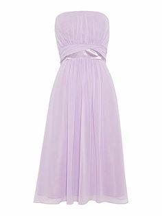 Ariella Strapless Bridesmaid Chiffon Dress £100