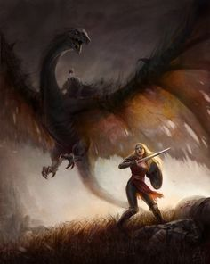 I like this of Eowyn right before she is kills the Nasgul and Witch King.  Very beautiful
