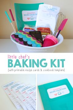 Diy baking kit for kids educational blogs and blog posts little chefs baking kit gift with free printables solutioingenieria Choice Image