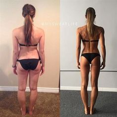 Pin for Later: A Before and After That Proves a Number on the Scale Means Nothing Remember: only FIVE pounds less on the right! But totally toned and strong. Forget the numbers. Focus on how you feel. #FitnessInspiration