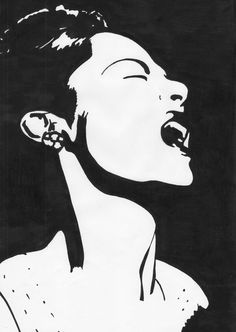 Billie Holiday vector drawing