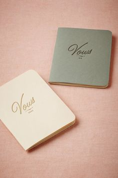 We will be writing our own vows, lovely to carry for the ceremony & to cherish as a keepsake (Letterpress Vow Journals) Bhldn Wedding, Wedding Vows, Wedding Gifts, Our Wedding, Destination Wedding, Wedding Planning, Dream Wedding, Wedding Bells, Kilt Wedding