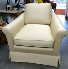 Baker Accent Chair in Dark Cream  Totally by WydevenDesigns, $700.00