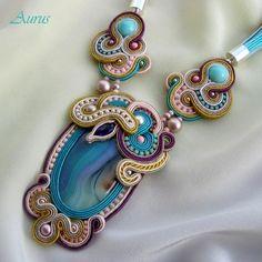 Soutache necklace/Kette von Aurus