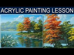 Acrylic Painting Lesson | Autumn in the River by JM Lisondra - YouTube