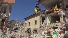 Sisma centro Italia - Soccorsi dei Vigili del Fuoco - Amatrice 26 Agosto...