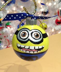 Hey, I found this really awesome Etsy listing at https://www.etsy.com/listing/212406123/minion-ornament