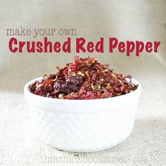 drying peppers in the oven (make your own crushed red pepper)
