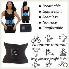 f1b27474c3e7c Shapewear Hot Power Belt Corset Fitness Tummy Trimmer Slimming Wrap  Neoprene Waist trainer Body Shaper Fashion