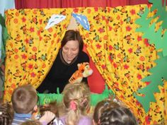 Puppet theatre for children performed by Parents