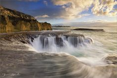 The Cauldron - Arniston, South Africa Beautiful Waterfalls, Beautiful Landscapes, Cauldron, Holiday Destinations, South Africa, Sunrise, Beautiful Places, Places To Visit, Nature