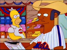"""""""The New York Mets are my favorite squadron."""" -- Qwik-E-Mart manager Apu Nahasapeemapetilon (""""The Simpsons"""")"""