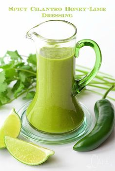 Spicy Cilantro Honey-Lime Dressing - addictively delicious, this dressing will rock your little salad loving world!