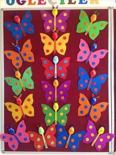 Butterfly crafts for kıds 3 funnycrafts – Artofit Toddler Crafts, Diy Crafts For Kids, Fun Crafts, Art For Kids, Arts And Crafts, Spring Activities, Preschool Activities, Preschool Education, Preschool Crafts