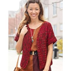 Free Pattern Caron Anywhere Short Sleeved Cardi | Hobbycraft